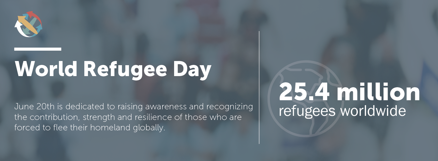 World refugee day infographic